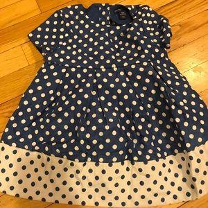 BabyGap blue and white dress